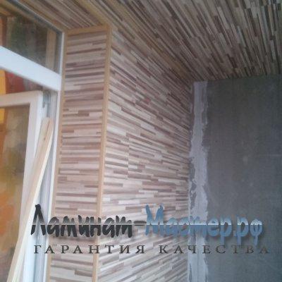 Пример укладки ламината на стенах и потолке